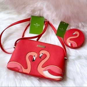 NEW Kate Spade Pink Flamingo Set